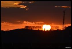 Sonnenuntergang bei ZW, vom Balkon aus,